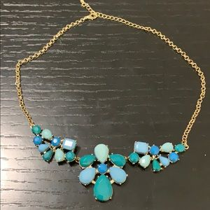 Old Navy blue and green golden necklace